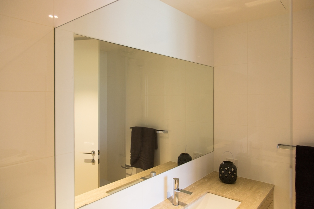 polished mirror installation