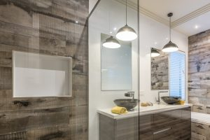 Semi-Frameless-Shower-Screen-and-mirrors-over-double-vanity